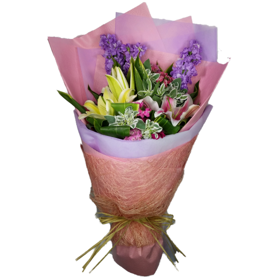 Valentine Mixed Lily Bouquet